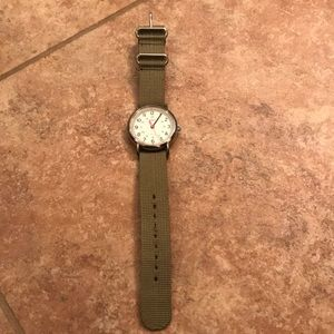 Timex watch with cotton band